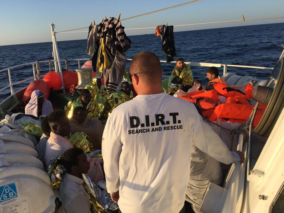 Refugees Mediterranean Sea | Global D.I.R.T. Disaster Immediate Response Team